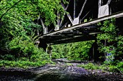 Dirt Roads Photos - Beneath the Skyway by JC Findley