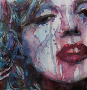 Marilyn Portrait Prints - Beneath Your Beautiful Print by Paul Lovering