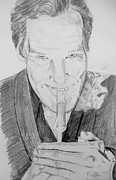 Benedict Drawings Prints - Benedict Cumberbatch Print by Conor O Kane