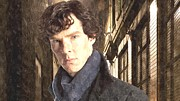 Benedict Painting Framed Prints - Benedict Cumberbatch Painting Framed Print by Sanely Great
