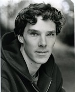 Movies Photo Framed Prints - Benedict Cumberbatch Portrait Framed Print by Sanely Great