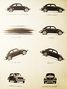 Vintage Car Advert Digital Art - Benefits of a Volkwagen by Nomad Art And  Design
