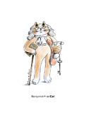 Benfrancat Print by Louise McClain Reeves