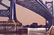 Downtown Franklin Photo Prints - BenFranklin Bridge 2 Print by Gallery Three