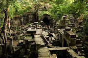 Artur Framed Prints - Beng Mealea Jungle Temple Framed Print by Artur Bogacki