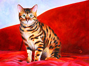 Denise Laurent - Bengal Cat Painting -...