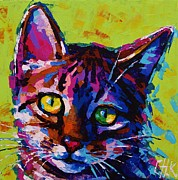Christine Karron Metal Prints - Bengal Kitty Metal Print by Christine Karron