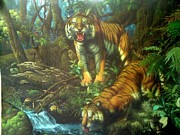 The Tiger Paintings - Bengal Tigers by Ma Zakki