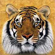 Striped Mixed Media Prints - Bengali II Print by Lawrence Supino