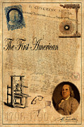 Declaration Of Independence Posters - Benjamin Franklin Poster by Andrew Fare