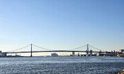 Benjamin Franklin Digital Art - Benjamin Franklin Bridge from Penn Treaty Park by Bill Cannon