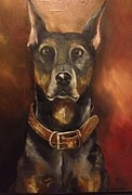 Doberman Pinscher Paintings - Bentley  by Debbi Unger