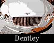 Expensive Framed Prints - Bentley Pop Art Framed Print by Cheryl Young