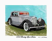 Bentley Sport Sedan 1934 Print by Jack Pumphrey
