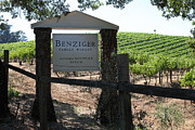 Winery Signs Prints - Benziger Winery In The Sonoma California Wine Country 5D24593 Print by Wingsdomain Art and Photography