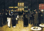 People Of The Night Prints - Beraud, Jean 1849-1935. The Boulevard Print by Everett