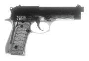 Firearms Prints - Beretta 9mm X-Ray Photograph Print by Ray Gunz