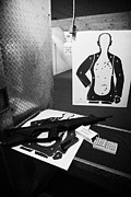 Practice Range Prints - Beretta Cx4 Storm 9mm Semi Automatic Rifle At A Gun Range In Florida  Print by Joe Fox