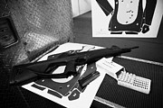 Practice Range Prints - Beretta Cx4 Storm 9mm Semi Automatic Rifle At A Gun Range In Florida Usa Print by Joe Fox