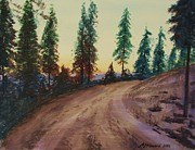 Beams Paintings - Bergebo Forest by Martin Howard