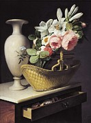 Interior Still Life Photo Metal Prints - Berjon, Antoine 1754-1843. Bouquet Metal Print by Everett