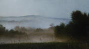 Misty Landscape Posters - Berkshire Morning Mist Poster by Larry Preston