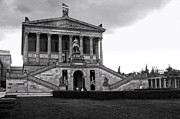Berlin - National Gallery - Black And White Print by Gregory Dyer