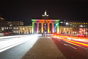 Berlin Pyrography Metal Prints - Berlin at Night Metal Print by Steffen Gierok