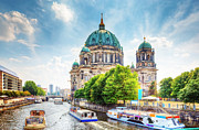 Berlin Cathedral Framed Prints - Berlin Cathedral Framed Print by Michal Bednarek