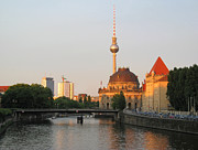Berlin Germany Prints - Berlin City View on river Spree Print by Kiril Stanchev