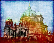Berlin Cathedral Framed Prints - Berlin Dome Framed Print by Lutz Baar
