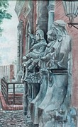 Berlin History Sculptures Print by Leisa Shannon Corbett