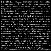 Berlin Germany Framed Prints - Berlin in Words Black Framed Print by Sabine Jacobs