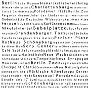 Berlin Germany Framed Prints - Berlin in Words White Framed Print by Sabine Jacobs