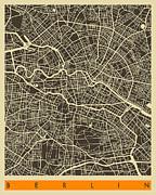 Berlin Map Print by Jazzberry Blue