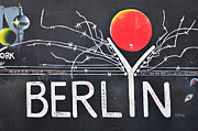 Berlin Mixed Media - BERLIN - Painting on the Berlin Wall by Gynt