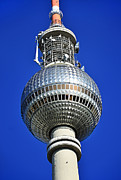 Centre Mixed Media Prints - Berlin TV tower - Fernsehturm Print by Gynt
