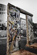 Concrete And Iron Posters - Berlin wall Poster by Chris Smith