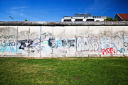 Mauer Framed Prints - Berlin Wall Memorial with graffiti  Framed Print by Michal Bednarek