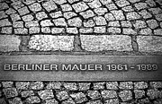 Berlin Germany Framed Prints - Berliner Mauer Framed Print by Ryan Wyckoff