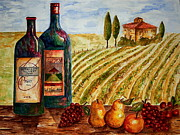Wine Tasting Prints - Bernhardt and Retreat Hill Winery Print by Tamyra Crossley
