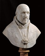 Borghese Posters - Bernini Gian Lorenzo, Bust Of Pope Paul Poster by Everett