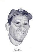 New York Yankees Paintings - Berra by Tamir Barkan
