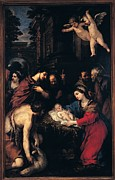 Adoration Photo Prints - Berrettini Pietro Know As Pietro Da Print by Everett