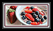 Strawberry Milkshake Framed Prints - Berries and Yogurt Intense - Food - Kitchen Framed Print by Barbara Griffin