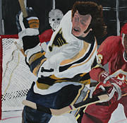 Hockey Painting Originals - Bert Wilson  by Aidan Squirrell