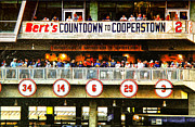 Baseball Fields Prints - Berts Countdown to Cooperstown Print by Susan Stone