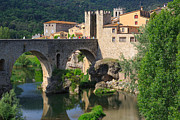 Besalu A Medieval Town In Catalonia Spain Print by Louise Heusinkveld