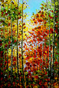 Free Shipping Art - Best Art Choice AWARD Original Abstract Oil Painting Modern Landscape Trees House Wall Deco Gallery by Emma Lambert