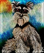 Schnauzers Posters - Best Friend Poster by Tisha McGee